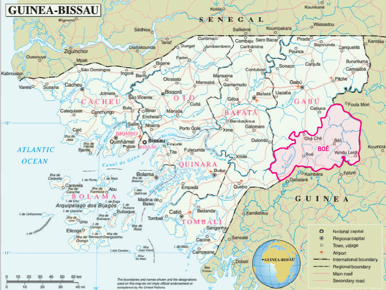 Map Boé
